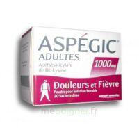 ASPEGIC ADULTES 1000 mg, poudre pour solution buvable en sachet-dose 20 à BOURG-SAINT-MAURICE