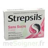 STREPSILS FRAISE SANS SUCRE, pastille édulcorée à l'isomalt, au maltitol et à la saccharine sodique à BOURG-SAINT-MAURICE