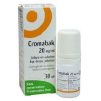 CROMABAK 20 mg/ml, collyre en solution à BOURG-SAINT-MAURICE