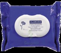 Klorane Soins des Yeux au Bleuet Lingette démaquillante biodégradable Pack/25 à BOURG-SAINT-MAURICE