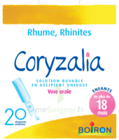 Boiron Coryzalia Solution Buvable Unidose B/20 à BOURG-SAINT-MAURICE