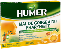 Humer Pharyngite Pastille Mal De Gorge Miel Citron B/20 à BOURG-SAINT-MAURICE